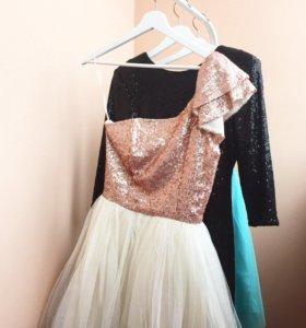 Нарядное платье с пачкой