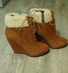 Новые Замшевые ботиночки зима