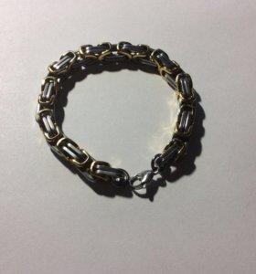 Мужской браслет (Gold-Silver)