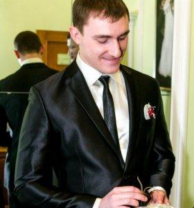 Мужской костюм + галстук + рубашка + чехол