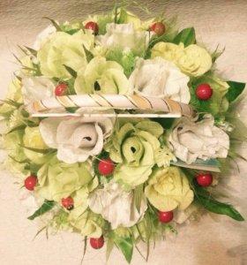 Sweet дизайн, Розы, цветы с конфетами