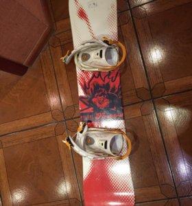 Комплект: сноуборд, крепления, ботинки