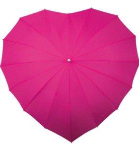 Зонт-трость для двоих в форме сердца