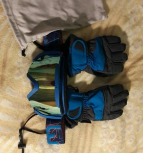 Очки и перчатки для лыж + термоводолазка в подарок