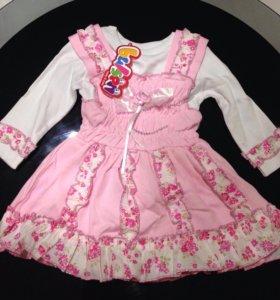 Платье для девочки на рост 80 и 86 новое