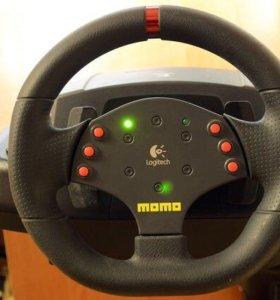Игровой руль для компьютера Logitech