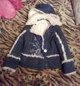 Куртка- дубленка детская на девочку.