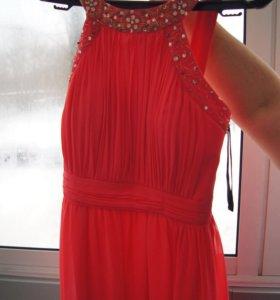 Длинное вечернее платье в пол на выпускной 44-46