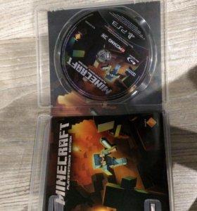 Игра на PS3 Minecraft.