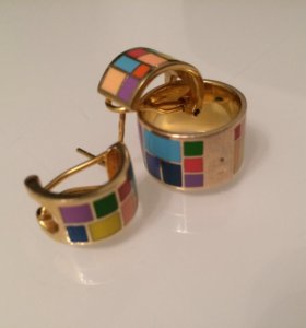 Комплект кольцо серьги
