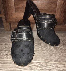 Туфли Клогги Coach размер 35