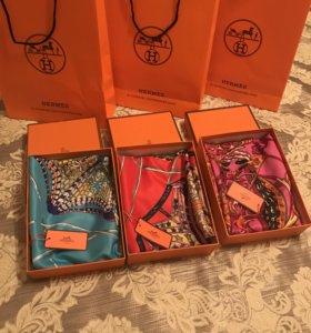 Платки Hermes в подарочных упаковках