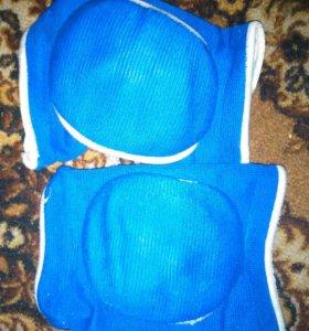 Наколенники (синие и белые)