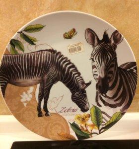 Новая тарелочка Зебра
