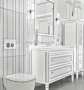 Мебель в ванную.