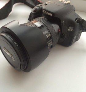Фотоаппарат Canon EOS 600D 2 объектива и вспышка