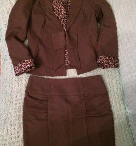 Костюм, юбка+пиджак