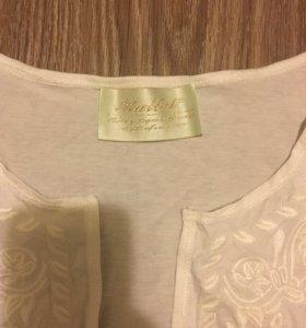 Хлопковая кофта с вышивкой