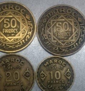 Набор монет Марокко 1951 года