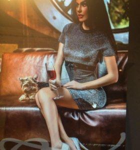 Платье из люрекса (новое)
