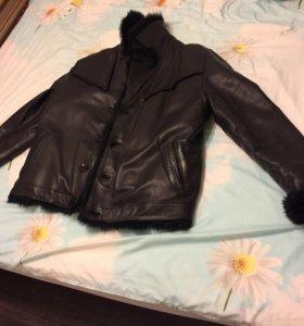 Куртка мужская нат. Кожа с мехом
