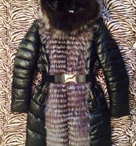 Пальто с мехом 48-50 р-р