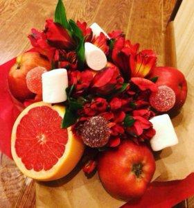Букет 💐 из фруктов 🍉 и овощей 🍆
