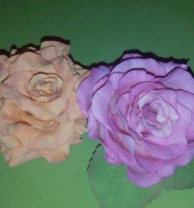 цветы резики для волос
