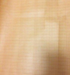 Миллиметровая бумага в рулоне г 820мм 10 м