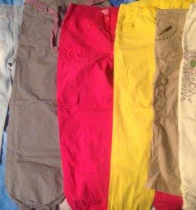 брюки бриджи джинсы шорты на девочку 5-10 лет