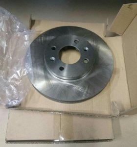 Передние тормозные диски Solaris Rio