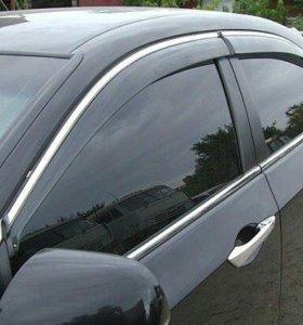 Дефлекторы(ветровики) окон и капота на все авто