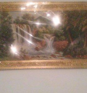 Картина с янтарным камнем