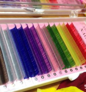 Цветные реснички для наращивания