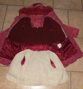 Зимнее пальто для девочки новое р.98, 104, 110