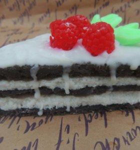 Мыльный кусочек тортика