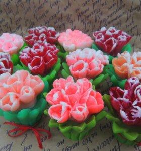 Мыло букетик тюльпанов