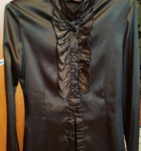 Атласная блузка, размер XS-S