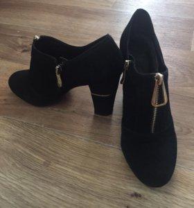 Туфли замшевые 38 р
