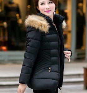 Стёганая чёрная куртка