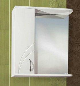 Шкаф для ванной с зеркалом Жемчужина 55