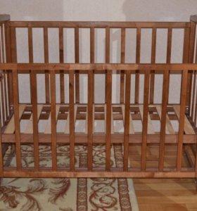 Кровать детская маятник + матрас Piltex