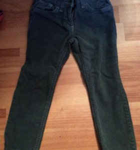 Вельветовые джинсы на девочку рост 104-110