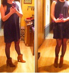 Сарафан, платье. Зара. Ботильоны Зара