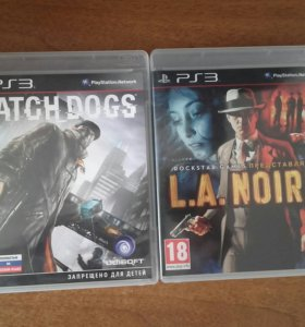 Watch dogs и L.A.Noire для ps3.