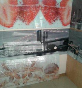 Кухонные стеклянные стеновые панели