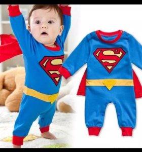 "Детский костюм (комбинезон) ""Супермен"" на 18-24мес"