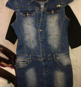 Джинсовое платье 46-48 новое