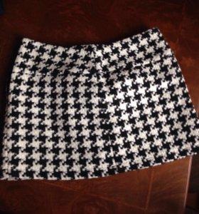 Шерстяная мини юбка sinequanone
