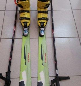 Горные лыжи+ботинки+ палки